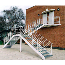 metal stair/galvanized outdoor steel staircase
