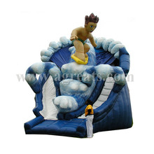 A boy surf riding inflatable water slide bouncer with reasonable price G4062