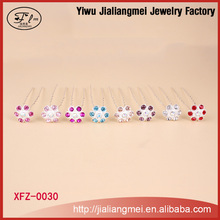 [Mix Color] Wholesale fashion girls hairpins diamond hair sticks