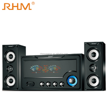 2.1 rhm bass deep woofer box professional speaker multimedia home theater system with usb sd