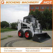 Chinese Brand New 650KG Rated Loading Skid Steer Loader with Optional Attachments
