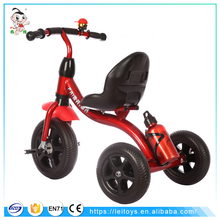 2017 High quality European standard baby carrier tricycle trike pedal kids car with water bottle