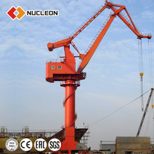 Marine For Port Pedestal With Derricking Jibs Crane