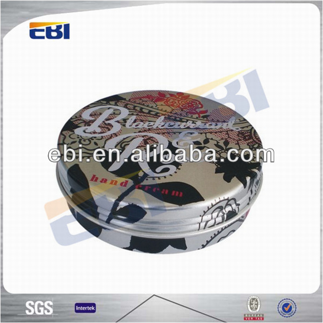 Custom printed cosmetic aluminum tin