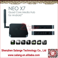 New 2014 made in China Quad Core External Antenna Dual Band Wifi android 2.3 internet tv set top box by salange