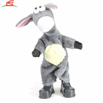 Dancing Singing Donkey Plush Animal Toy for Kid Children