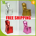 Free Shipping golden coating spandex chair cover,metallic Spandex chair covers