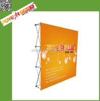 2016 china custom velcro aluminium fabric pop up display trade show booth
