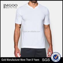 Mens Short Sleeve Tops Casual Quick Dry Slim Fit Polyester Spandex Blend Stretchy Material Tops Football Tee Solid Custom Color
