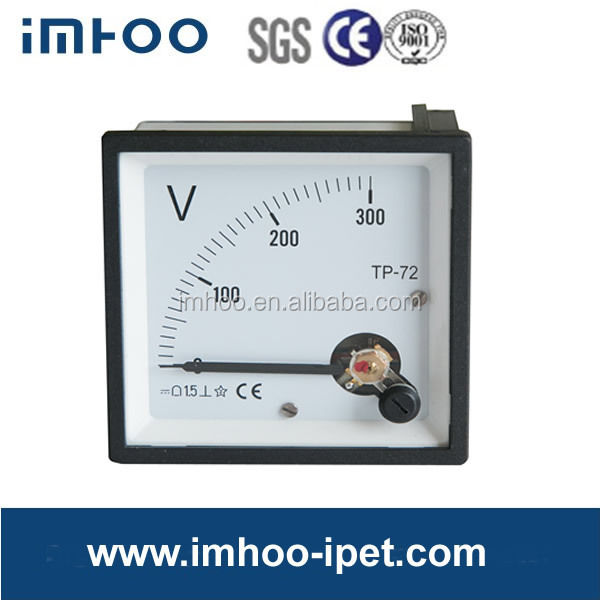 Analog panel voltmeter 72*72 DC 300V analog voltmeter 72