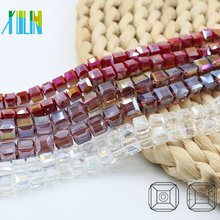 A5601-3# AB Colors Jewelry Making Square Glass Crystal Cube Beads Wholesales