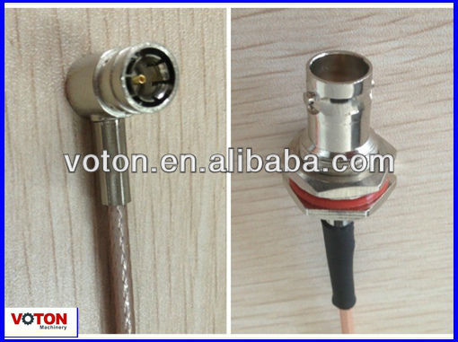3G wireless network devices pigtail RG179 30cm 75ohm SMB jack Right Angle to BNC Coaxial connectors