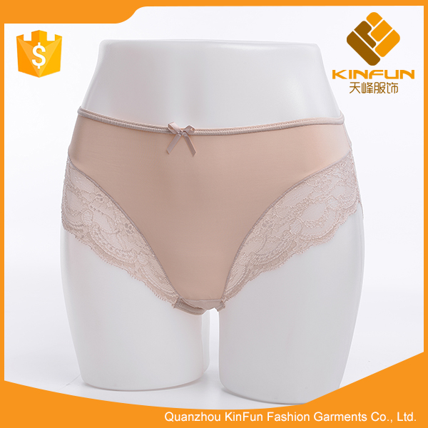 Environmental protection women chain link fence cotton t-back underwear
