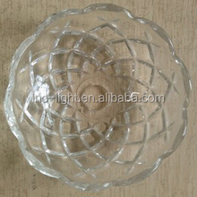 High quality glass chandelier parts crystal chandelier bobeche