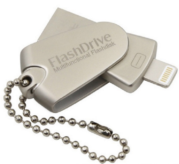 New arrival metal rotation mobile phone <strong>U</strong> <strong>disk</strong> 128G three-way OTG <strong>USB</strong> flash drivers wholesale
