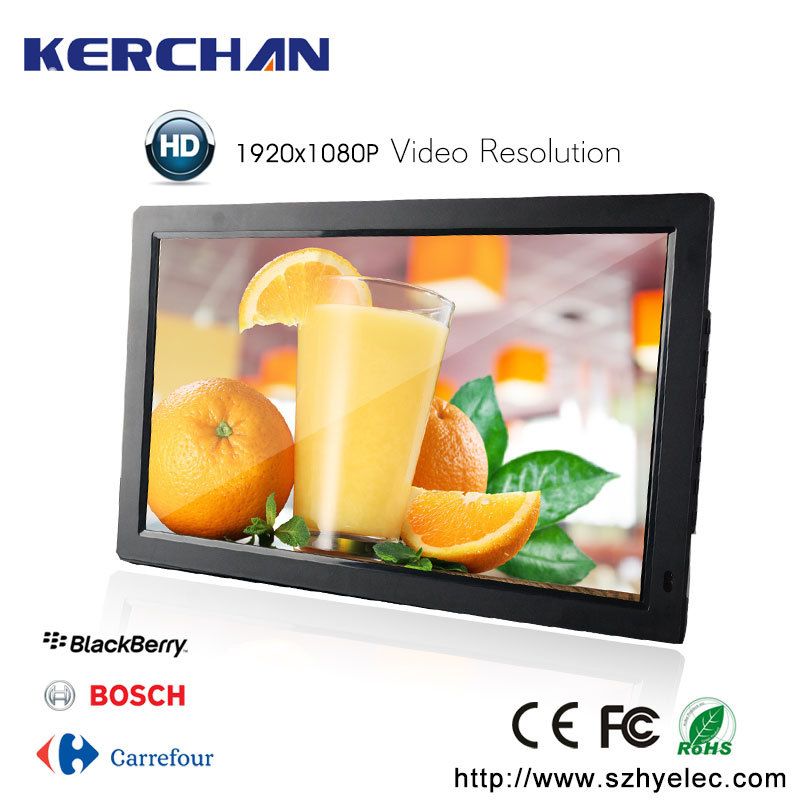 Digital signage advertising full hd double side lcd display 15.6 to 21.5 inch