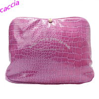 Wholesale Crocodile Silver PU Leather Wash Bag Custom Red Travel Cosmetic Bag