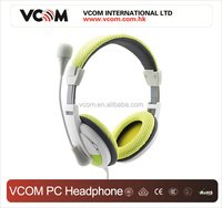 2016 Hot selling Super Bass computer wired stereo headphone with microphone