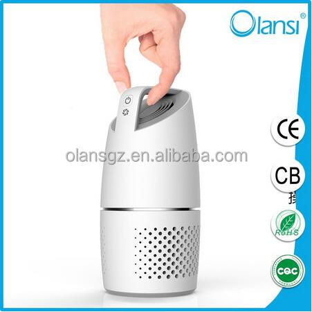 car fresh air ionizer activated carbon Olans mini HEPA car air purifier with LED light indicator