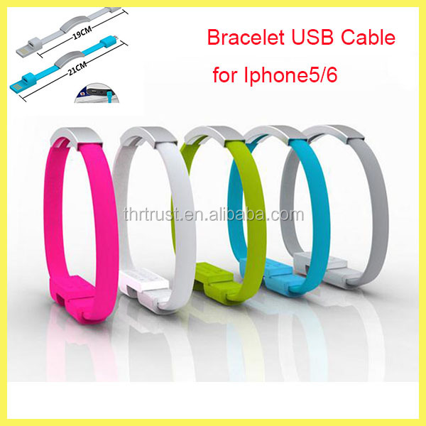 Promotional Gift Laser Logo 24awg 2c usb Sync cable with protective sleeve