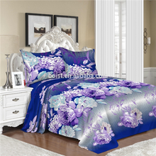 stock lot polyester applique work factory bed sheet