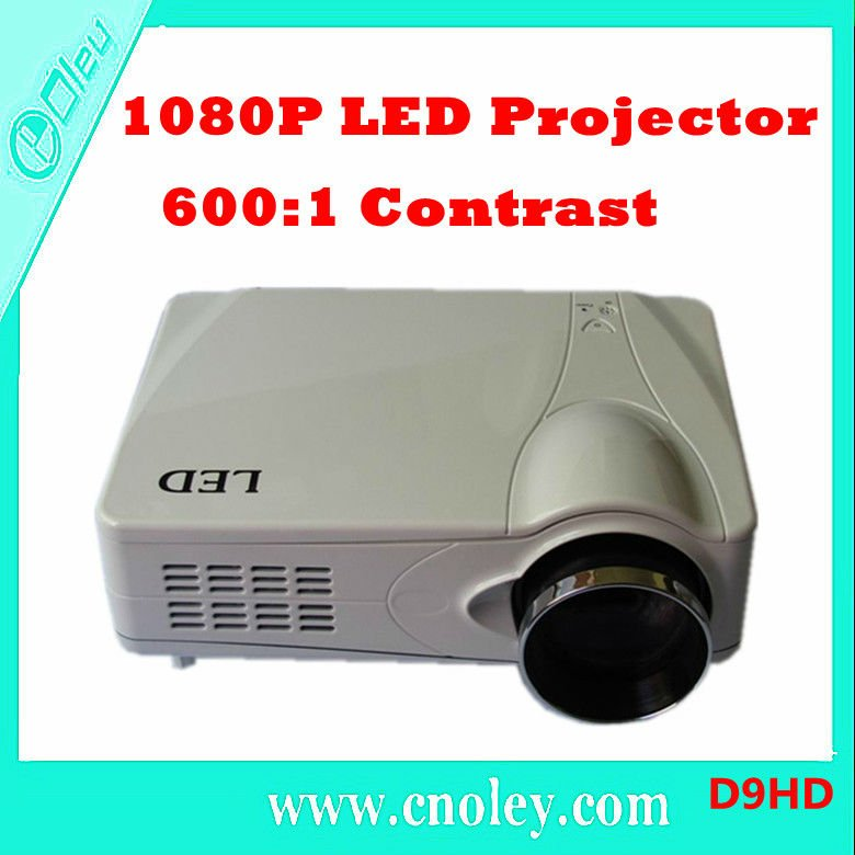 1080P HDMI HDTV Projector Support 1024*768