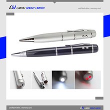 usb laser pointer pen ,custom logo usb pendrive , 8gb usb flash drive laser pointer ball pen