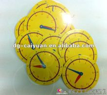 round color CMYK card in clock shape,OEM card, offset printing card