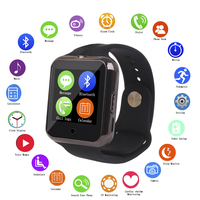Newest GSM smart watch capacitive touch screen smart watch bluetooth phone with heart rate monitor