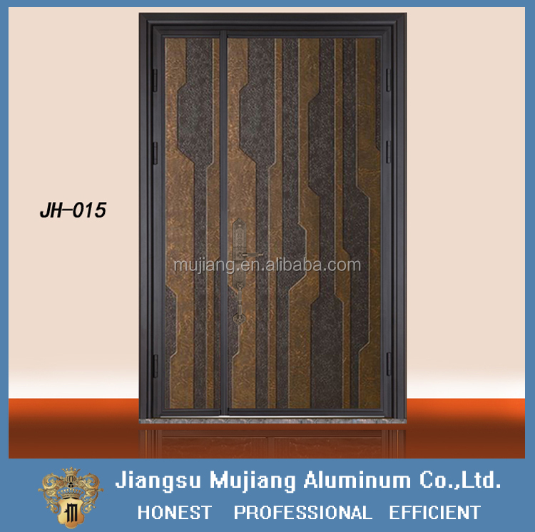 Home casting aluminum swinging main entrance door design/ house villa double doors/house gate design