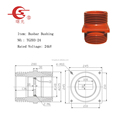 24kV Busbar Bushing for KYN28A-24 Electrical Switchgear