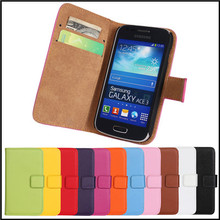 Manufacturer Wholesale Colorful Genuine Leather mobile phone flip case For Samsung Galaxy ace 3 S7270 s7272 s7275