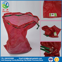 Wholesale heavy duty pp leno packing firewood mesh net bag for fire wood packaging