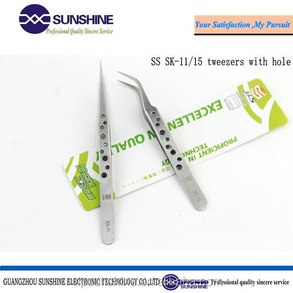Non Magnetic Stainless Steel Precision Straight Tweezers Mobile Phone Tablet Repair Tools Anti-slipping tweezers