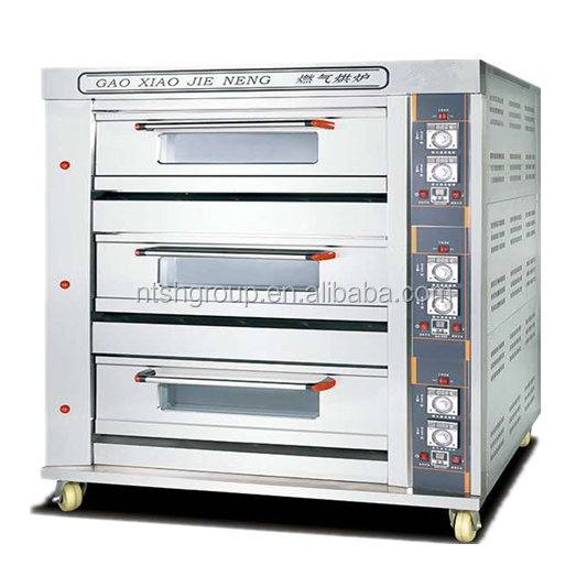 Common Big Size 9 Trays Pizza / Cake / Bread Oven Bakery Machine