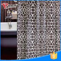 New style high quality indian print shower curtains