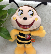 Funny bee shape plush toy honey bee soft stuffed animal toy