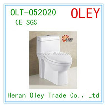 Bathroom siphonic one-piece water saving toilet sanitary wares