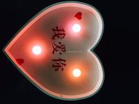High quality heaet shaped sign battery led light up bulb letter for wedding decoration
