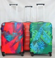 travel luggage sale colorful printed lightweight hard case luggage