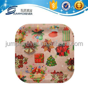 Plastic flower decor lego wholesale christmas tray