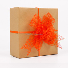 Gift wrapping pull bow string ribbon bow