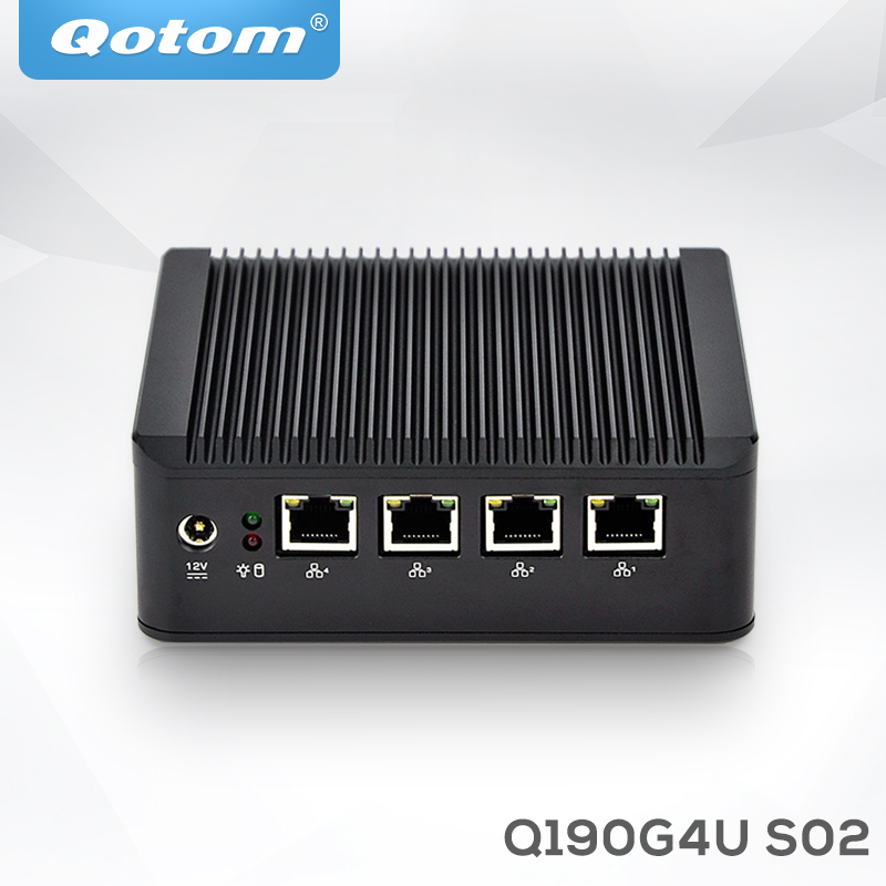 Qotom <strong>computer</strong> for network appliance linux x86 ubuntu barebone with rs232 industrial 12v multi lan fanless mini pc