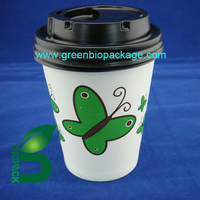 a Disposable PLA cup lid for paper cup