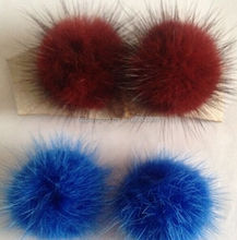 Best Saling Hot Chinese Products Colorful Mink Fur Pom Poms / Genuine Mink Fur Ball