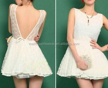 High Quality Lady Sexy Backless Lace Lovely Prom Dress Short