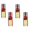 12v led lights t10 7020 10 smd red color canbus 2.4w 8000k for car accessories