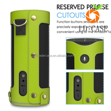 factory wholesale hot selling speaker Leather Case for Amazon Echo leather carry bag of Bluetooth Speaker