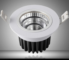 AC85V-265V12W led cob downlight recessed led lamp high quality day light 3000K 6000K