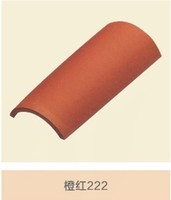 355*190*160 mm lowes round corner color coated terracotta/Ceramic roof tiles price